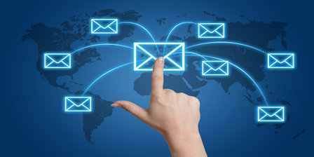 email Communication concept