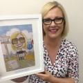 Julie Cartoon Accept Award