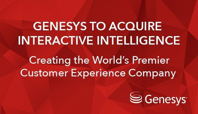 Genesys to buy Interactive Intelligence in $1.4bn deal