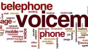 Voicemail word cloud