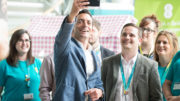 EE's CEO, Marc Allera at EE Merthyr Tydfil site.   01/06/2017  Photo by Simon Galloway   Photo must carry Photographer byline; ©Simon Galloway 2017.  All Rights Reserved. NO SYNDICATION/NO RESALE/NO PRINT SALES/NO WEB USE WITHOUT NEGOTIATION/NO ADVERTISING USE. Simon Galloway asserts his Moral Rights as the author of this work in accordance with the Copyright Designs and Patents Act 1988.   Contact photographer: Simon Galloway 07810 638162 simongalloway@hotmail.com www.simongallowayphotography.co.uk