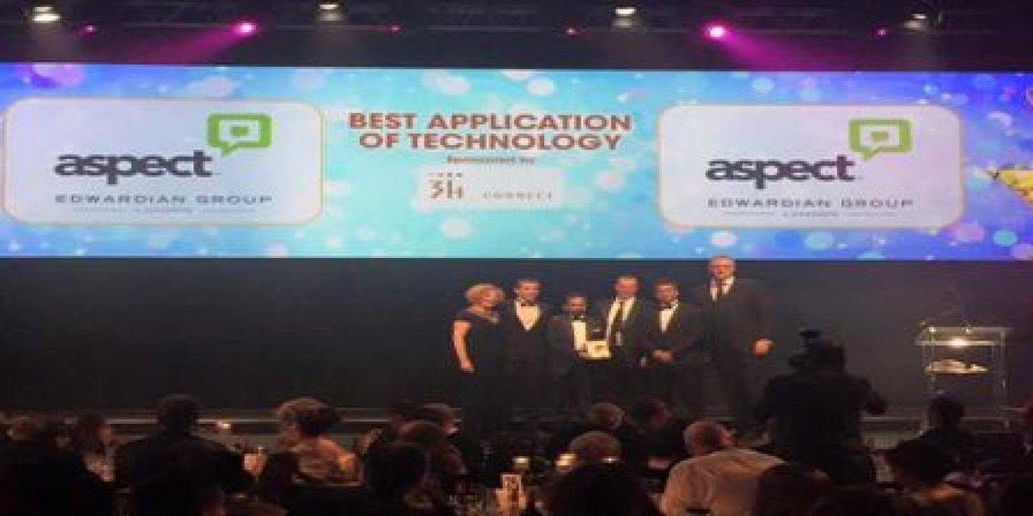 Aspect Software and Edwardian Group London Celebrate Award Success