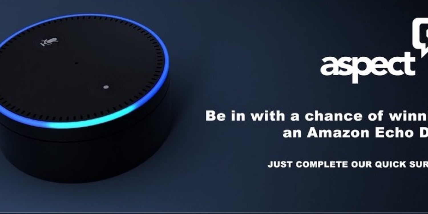 Aspect Software: Complete a Survey and Win an Amazon Echo