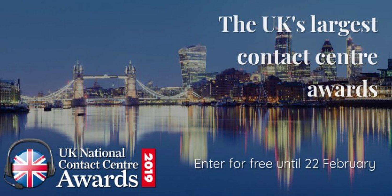 4 Weeks Left to Enter UK National Contact Centre Awards