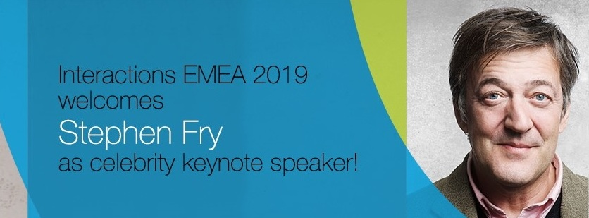 NICE Interactions EMEA Welcomes Stephen Fry