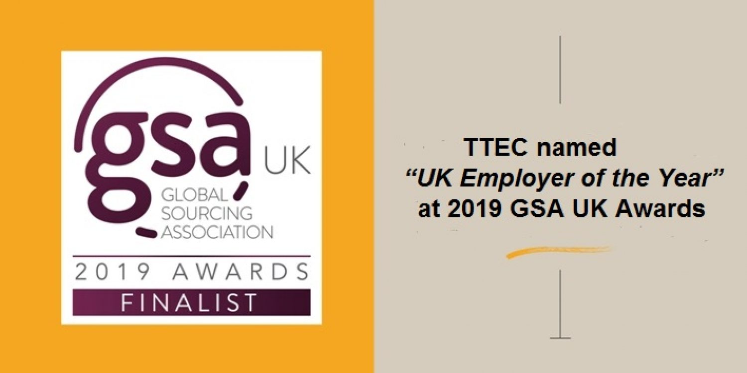 TTEC named UK Employer of the Year at GSA UK Awards