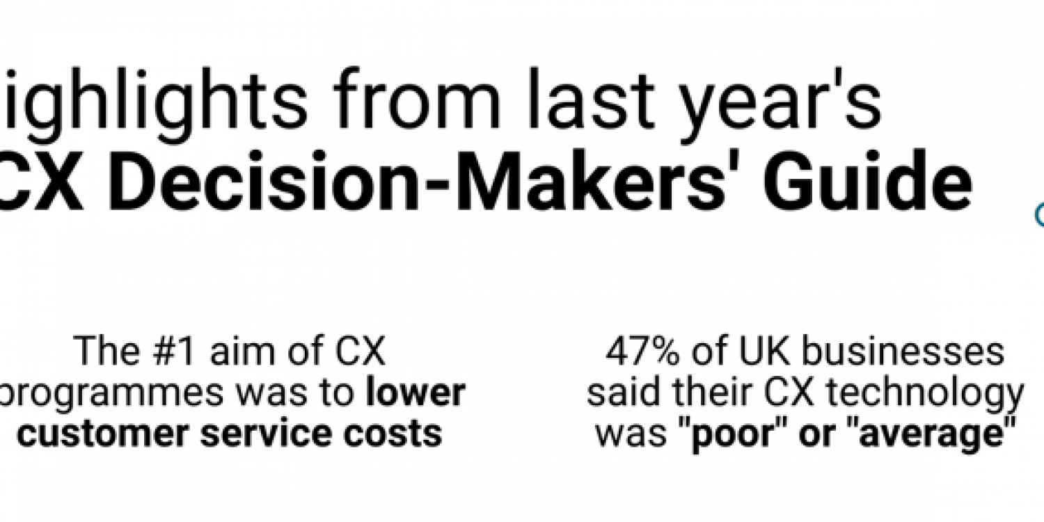 Be Part of The 2020 UK Customer Experience Decision-Makers Guide