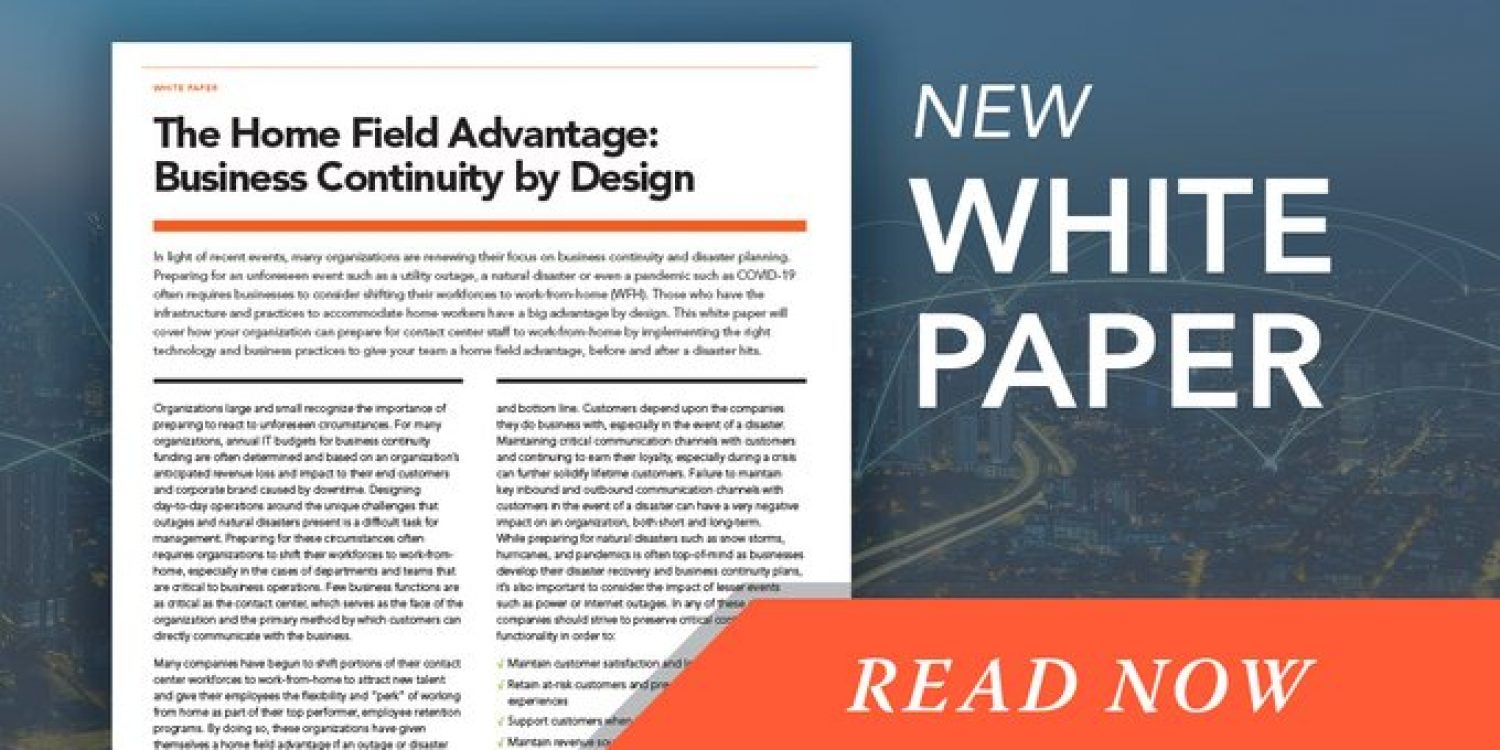 The Home Field Advantage: Business Continuity by Design
