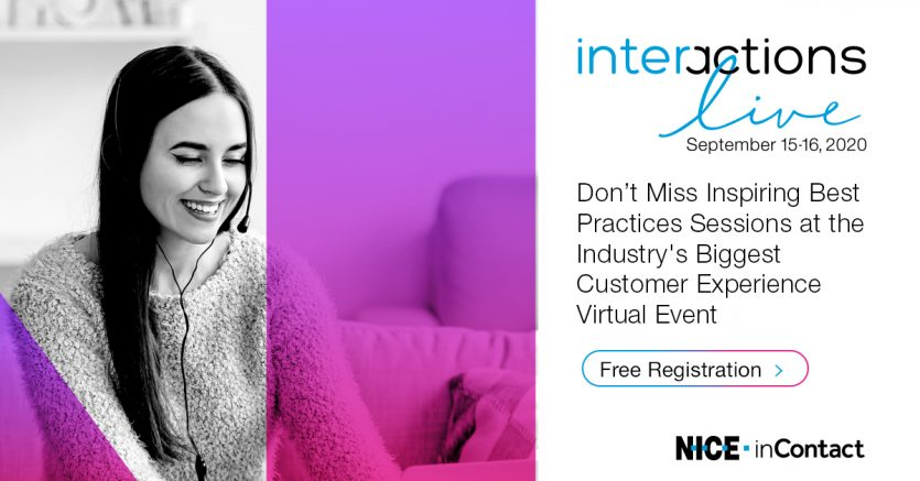 Contact Centre Events: Interactions September 15th-16th 2020