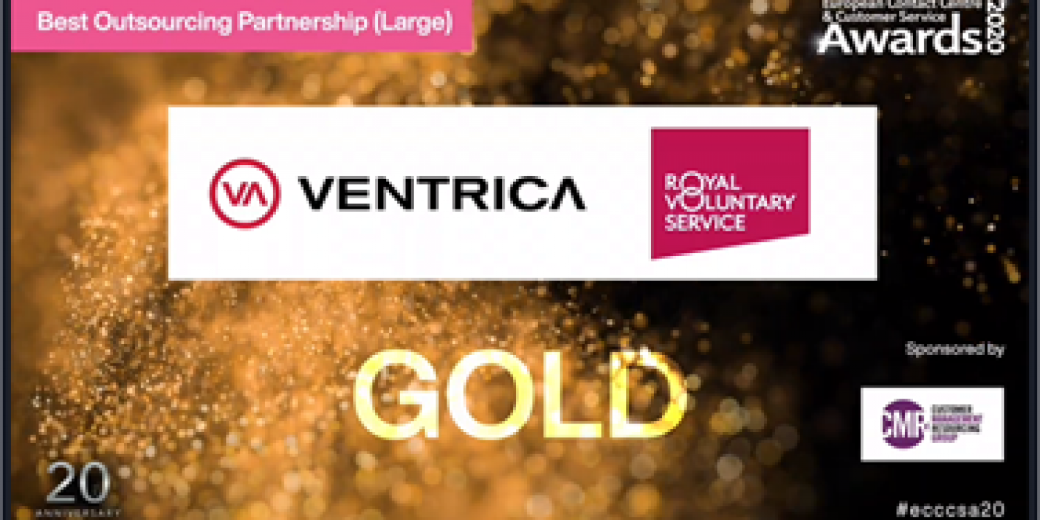 Ventrica wins at European Contact Centre & Customer Service Awards
